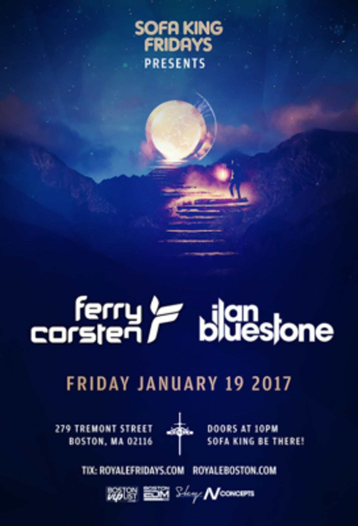 Tablelist Buy Tickets And Tables To Ilan Bluestone Ferry Corsten At Royale 1 19 18 10 00 Pm 21 At Royale